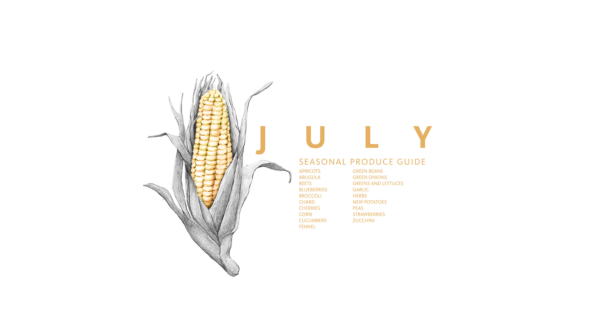 Check out this Seasonal Produce List for July. You can download the image and save it to your phone or computer to remember to eat fresh this month.