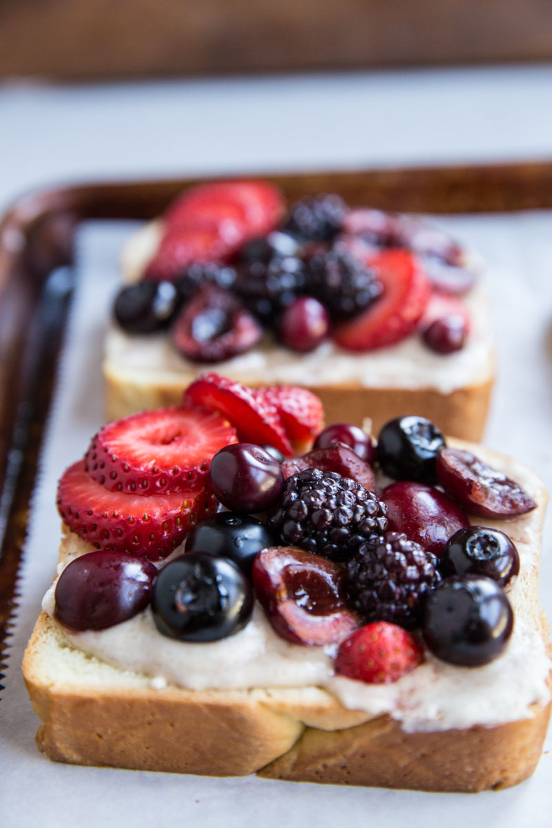 This French brioche toast topped with berries and frangipane is a cross between a fruit tart and french toast