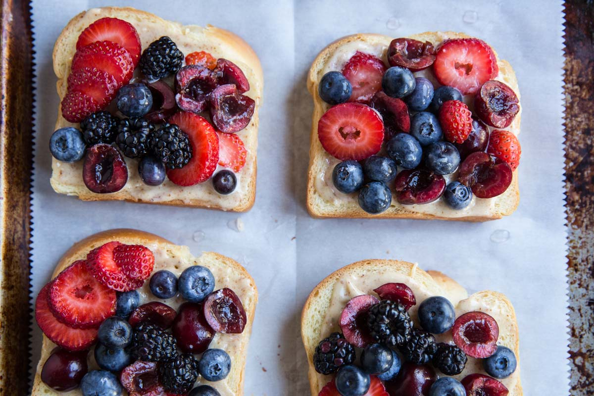 Spread Frangipane on some brioche and top with berries for a classy but easy breakfast