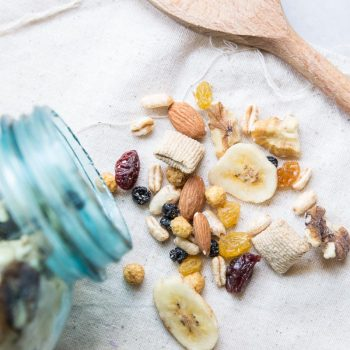 Healthy trail mix recipe with dried fruit and nuts