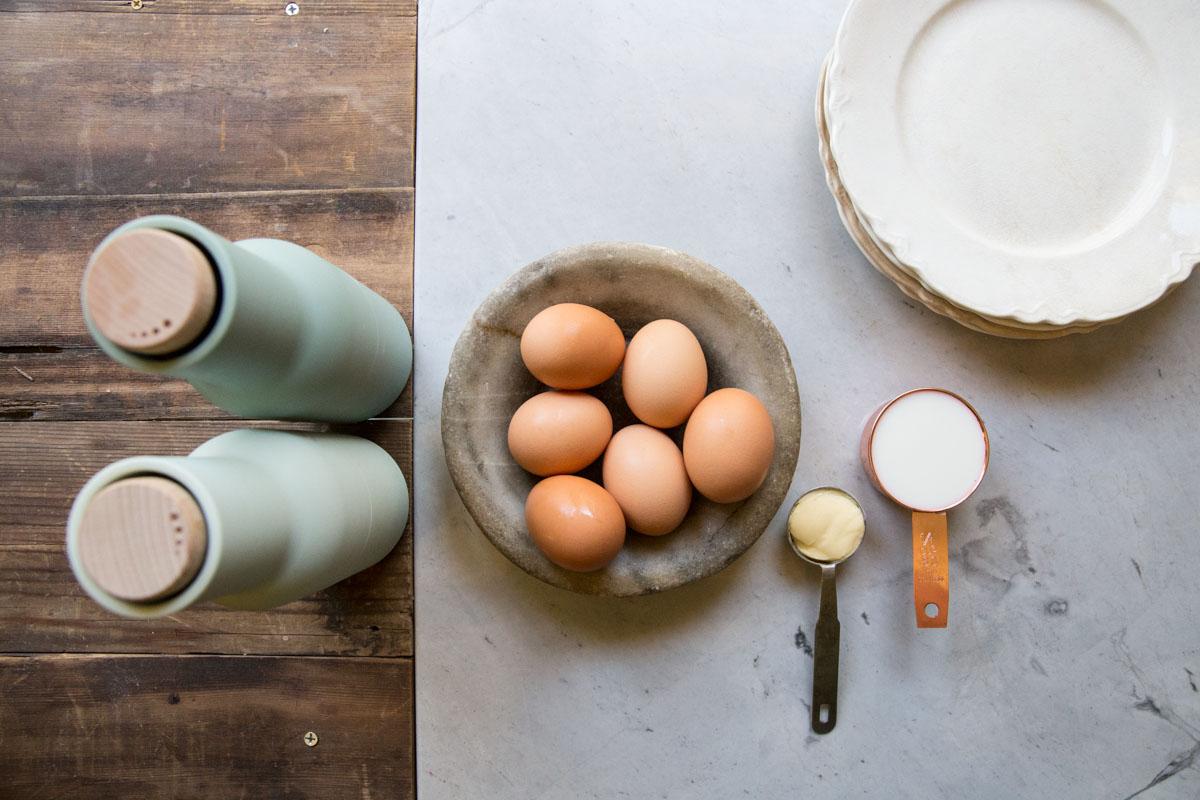 Use farm fresh eggs for the best soft scrambled eggs