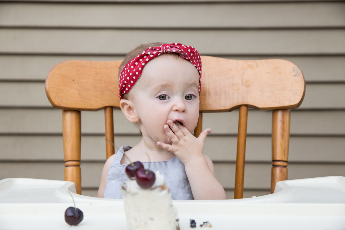 Our baby girl loved every bite of this cherry cake that's gluten free and sugar free