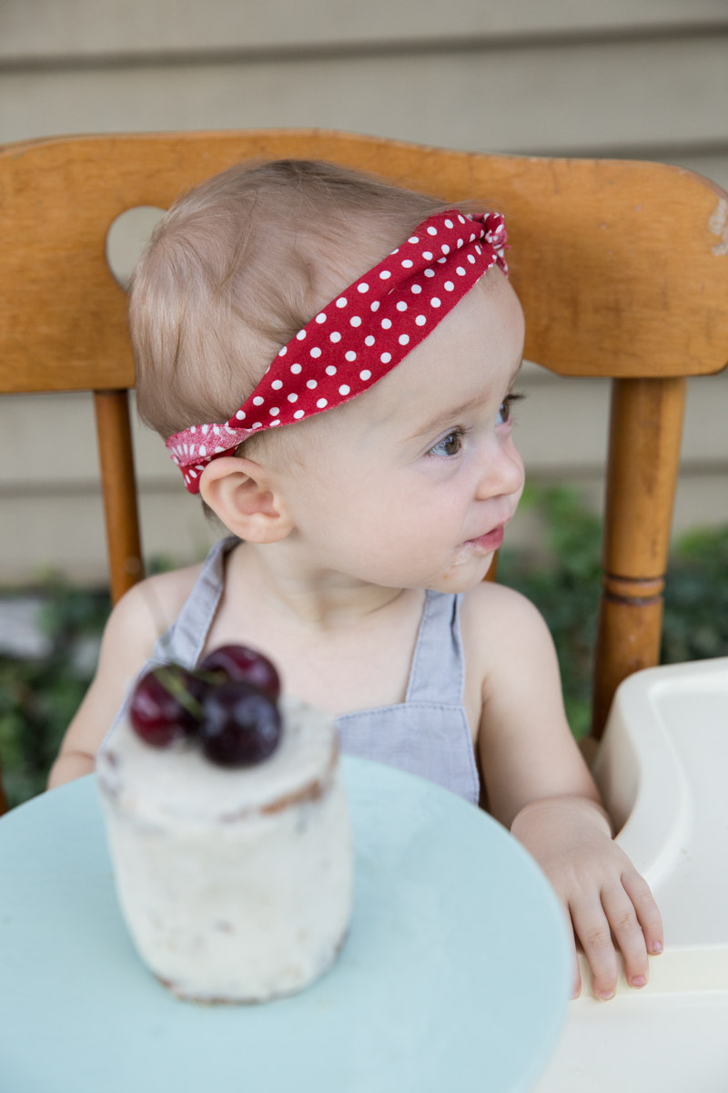 A sweet cherry themed birthday party for a 1 year old girl