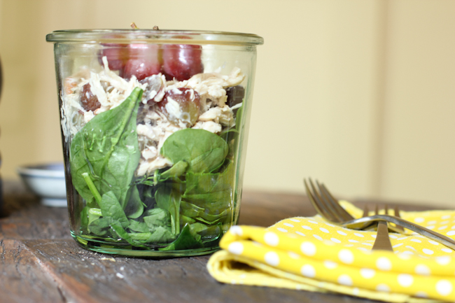 Chicken Salad Recipe with Grapes, Pecans and Kefir