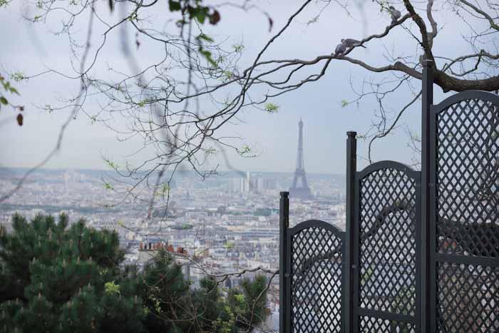 Paris Montmartre View of Eiffel Tower
