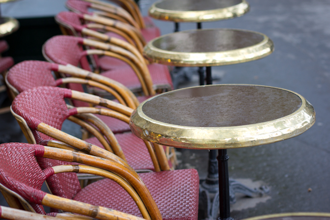 Cafe Chairs in Paris
