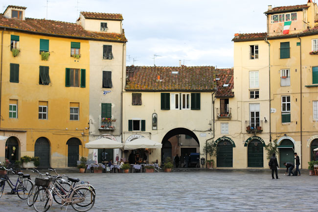 Anfiteatro in Lucca Italy