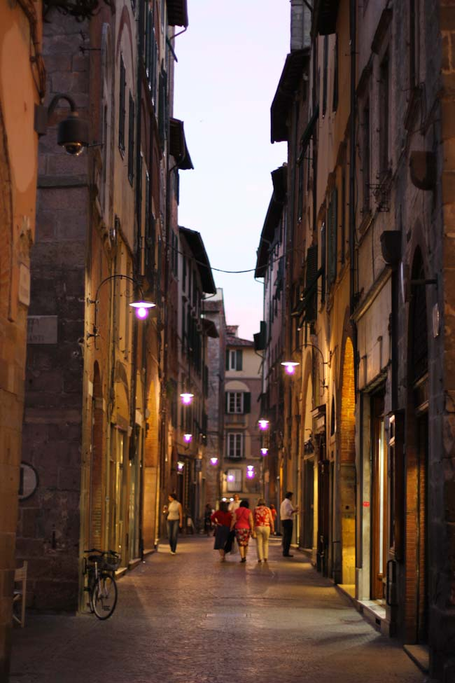 Lucca Italy at night