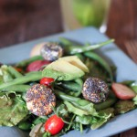 Farmers Market Salad with Spiced Goat Cheese Croutons