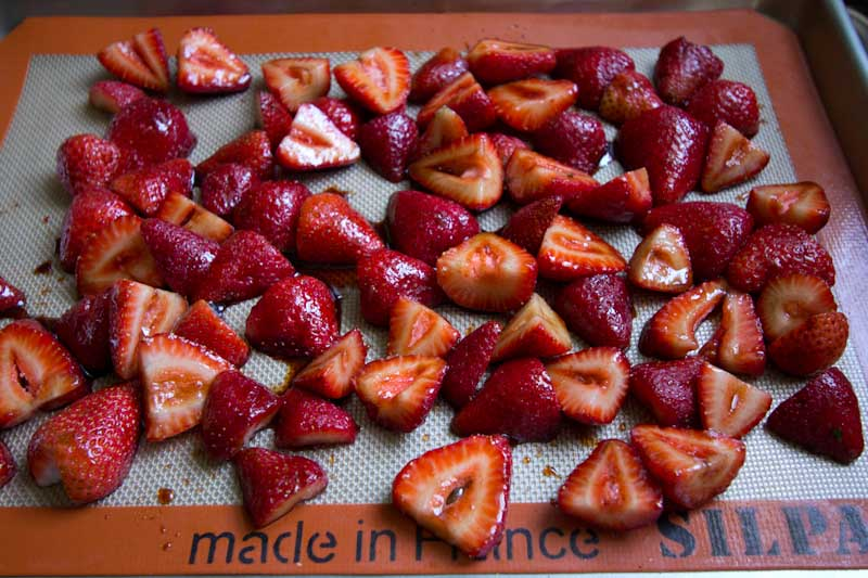 Roasted Strawberries with Balsamic and Vanilla Bean Paste