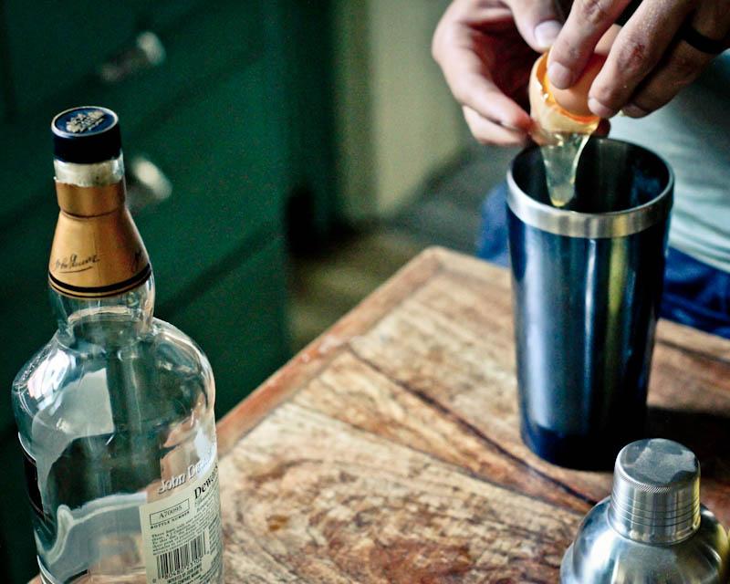Vintage Mixer Boston Sour Cocktail Recipe with egg whites