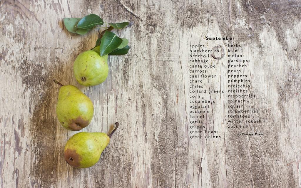 What produce is in season in September in Utah
