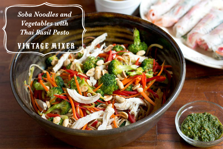 Soba Noodles and Vegetables with Thai Basil Pesto Recipe