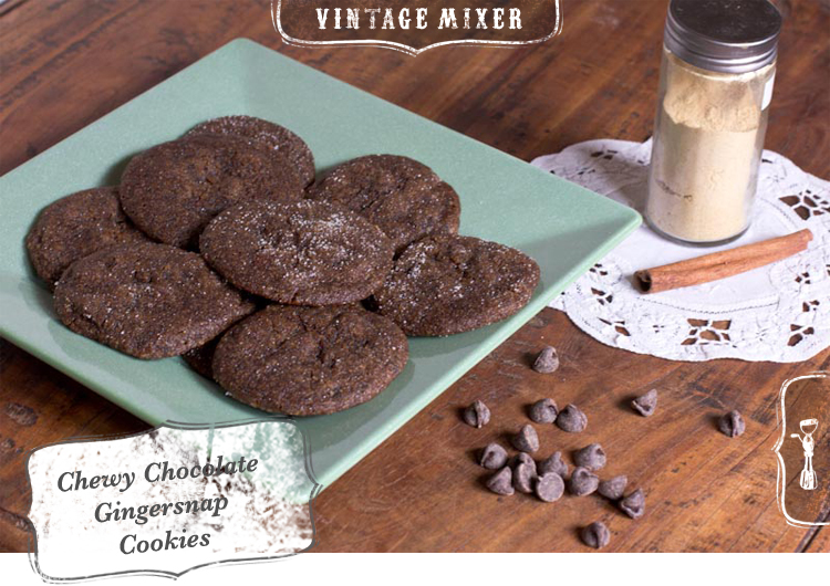 Chocolate Gingersnap Cookies