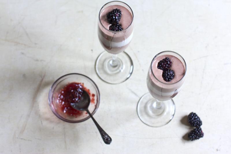 Chocolate and Vanilla Bean Yogurt Parfaits