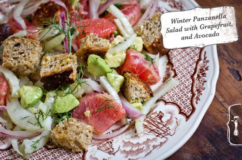 Panzanella Salad with Grapefruit Fennel and Avocado