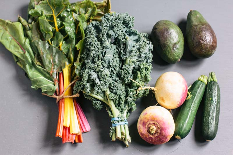 Green Soup Recipe with Kale, Swiss Chard and Avocado