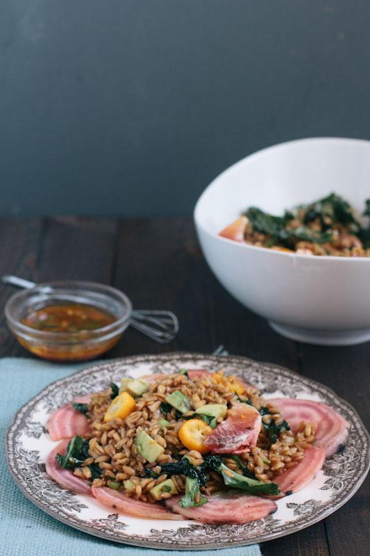 Farro Salad Recipe with Blood Oranges, Kumquats, and Beets