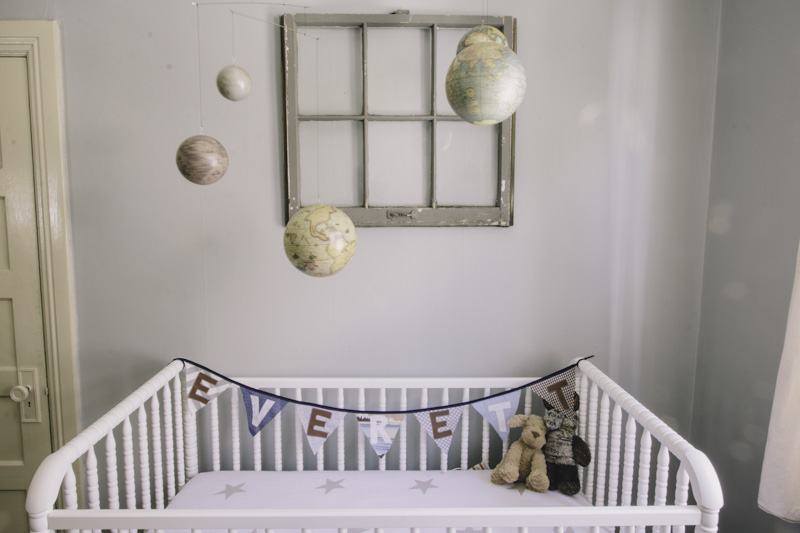 Globe Themed Nursery Vintage Mixer