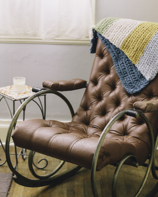 Woodard Vintage Leather Tufted Rocking Chair