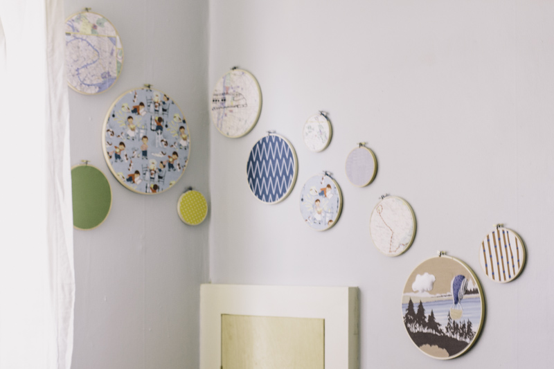 Nursery Embroidery Hoop Art