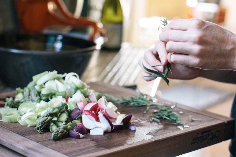 Easy Sautéed Spring Vegetable Recipe with Tarragon