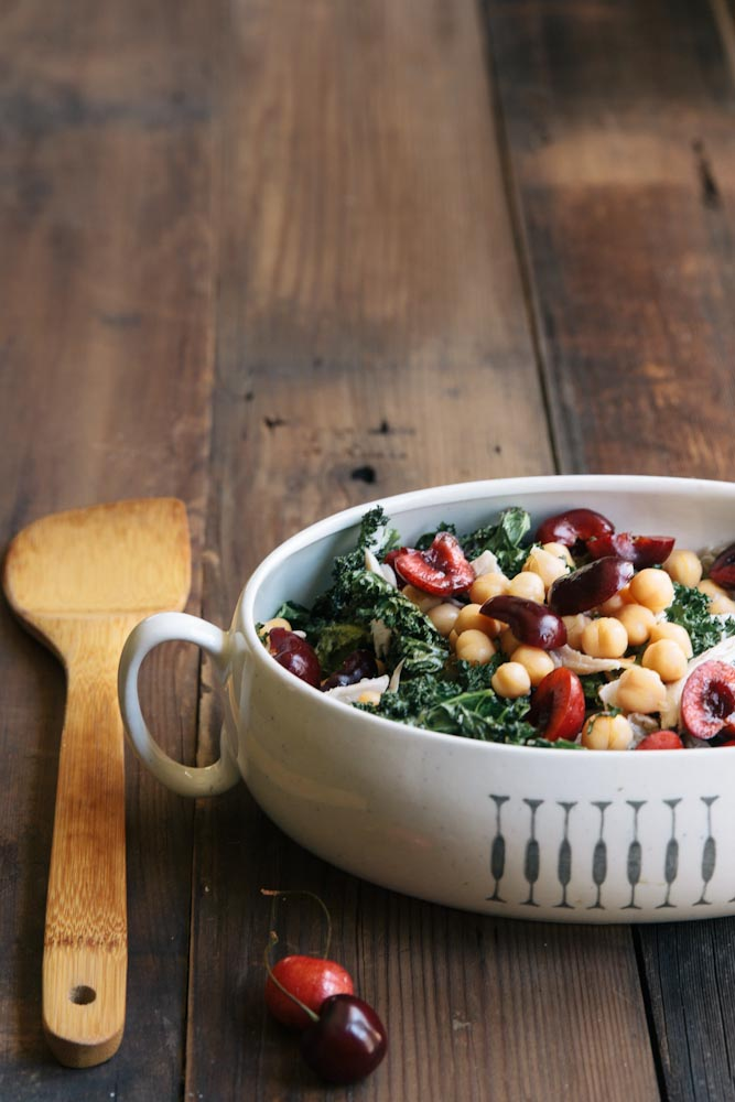 Cherry Kale Salad Recipe