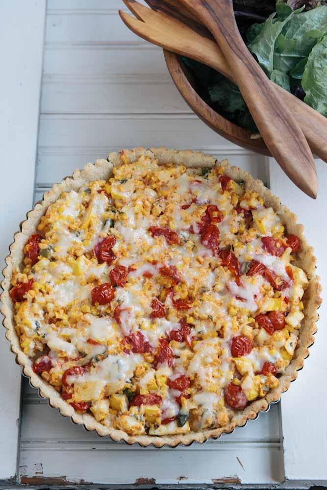 Gluten Free Succotash Tart Recipe