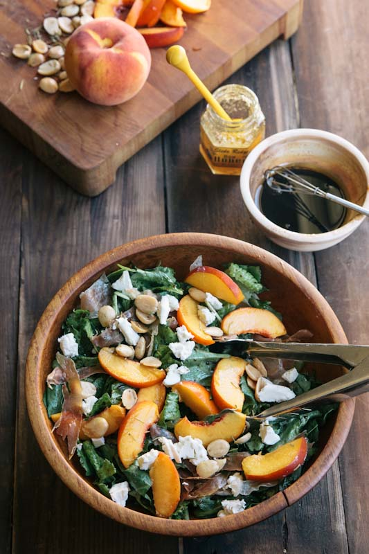 Peach and Prosciutto Salad Recipe