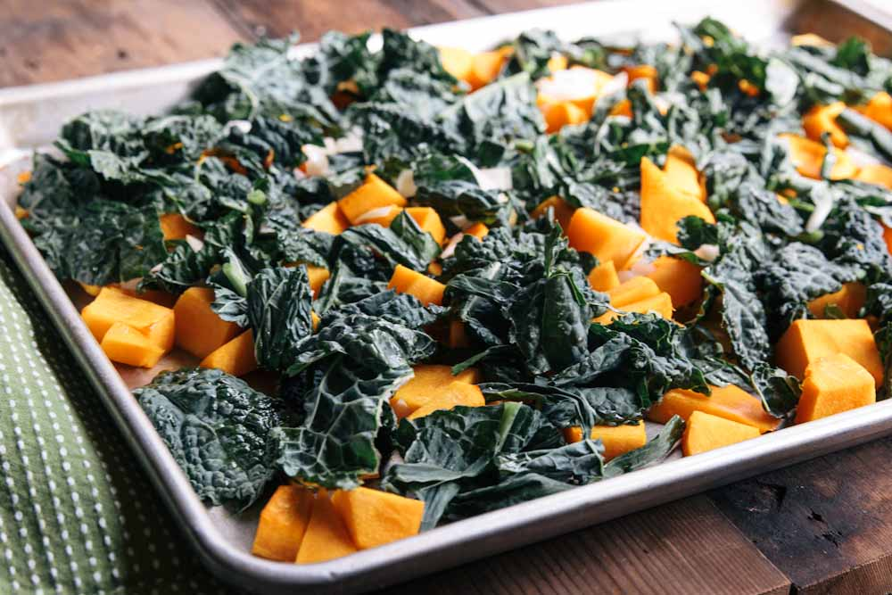 Baked Pasta with Squash and Kale