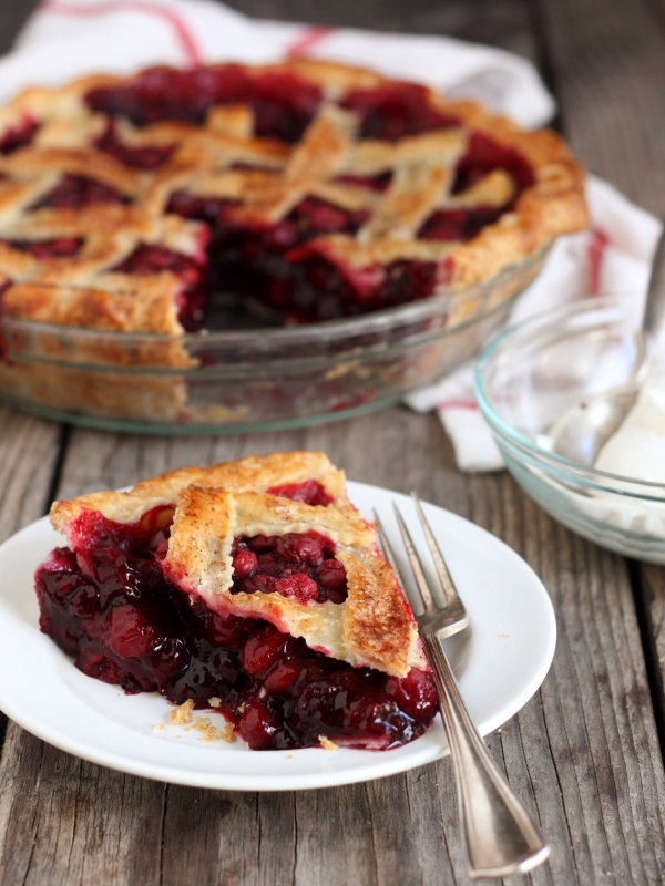 Cranberry Blueberry Pie Recipe by Completely Delicious