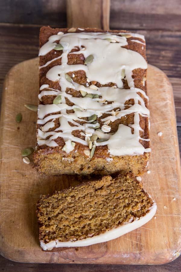 Pumpkin Bread Recipe with Maple Icing
