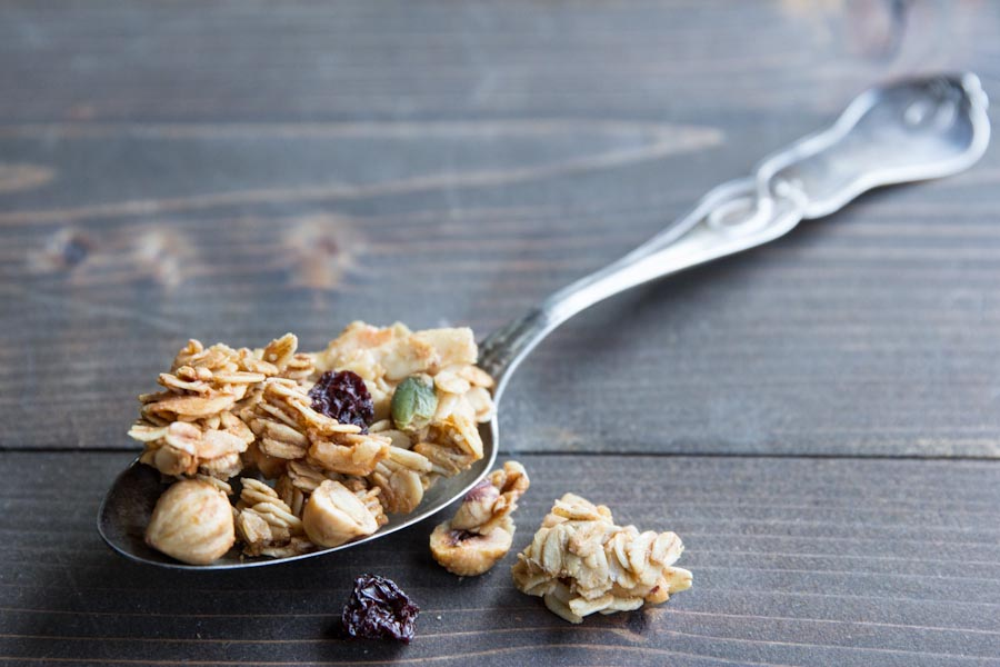 Cherry Hazelnut Granola Recipe with Clusters