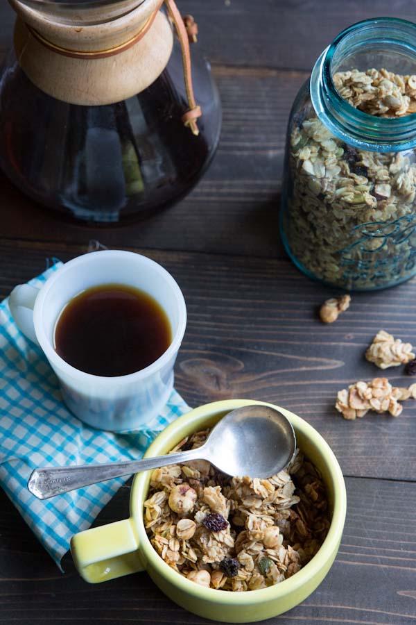 Cherry Hazelnut Granola Recipe with Clusters