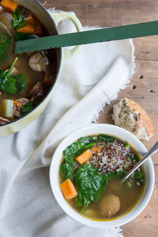 Sweet Potato Spinach and Quinoa Soup Recipe