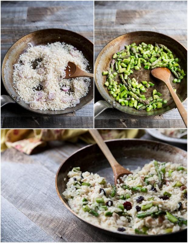 asparagus cherry risotto recipe | theVintageMixer.com