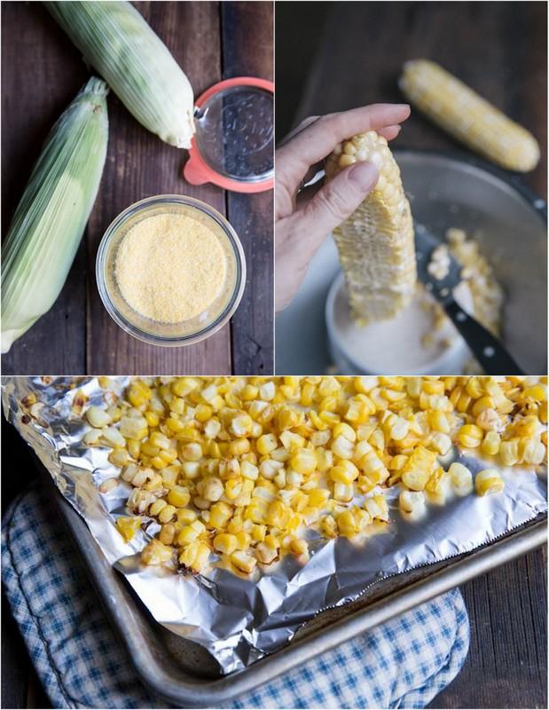 Fresh Corn Cakes Recipe •theVintageMixer.com