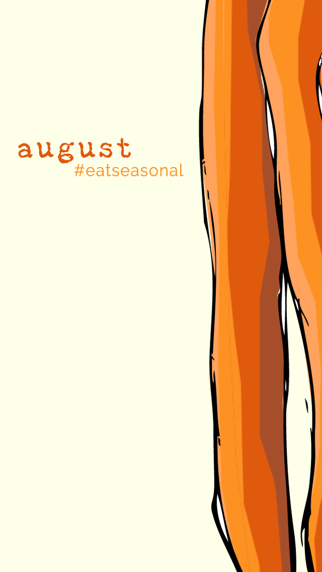 August Seasonal Foods Guide Image for iPhone • theVintageMixer.com #eatseasonal