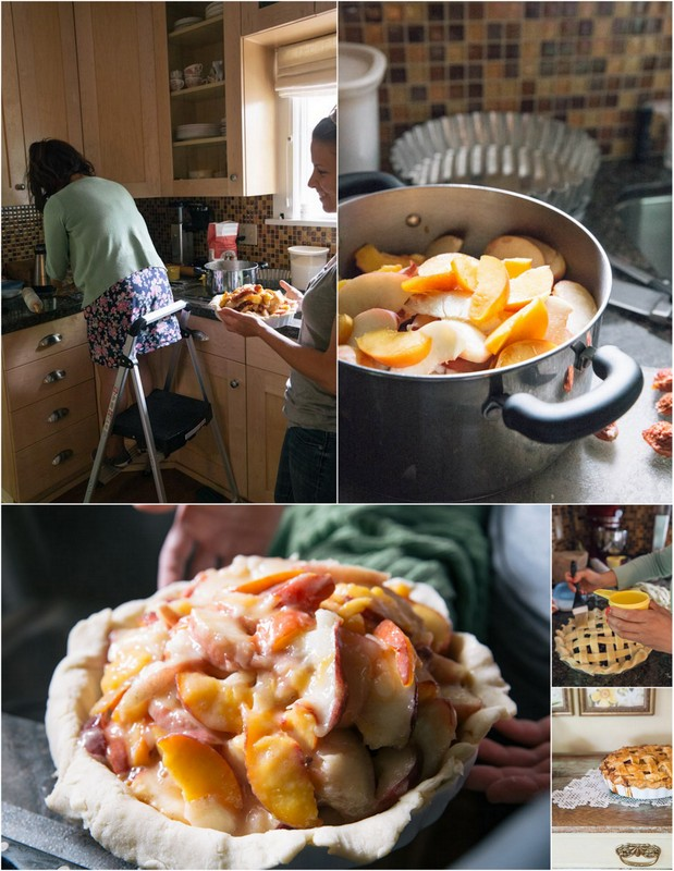 How to make a peach pie • theVintageMixer.com