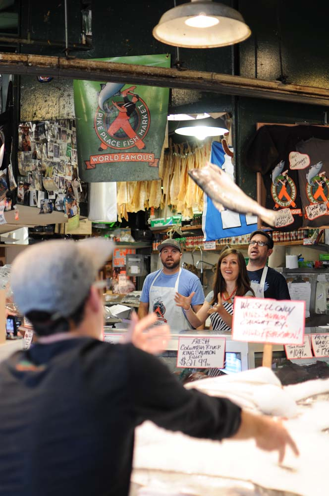 Catching fish at Pike Place Market #Seattle