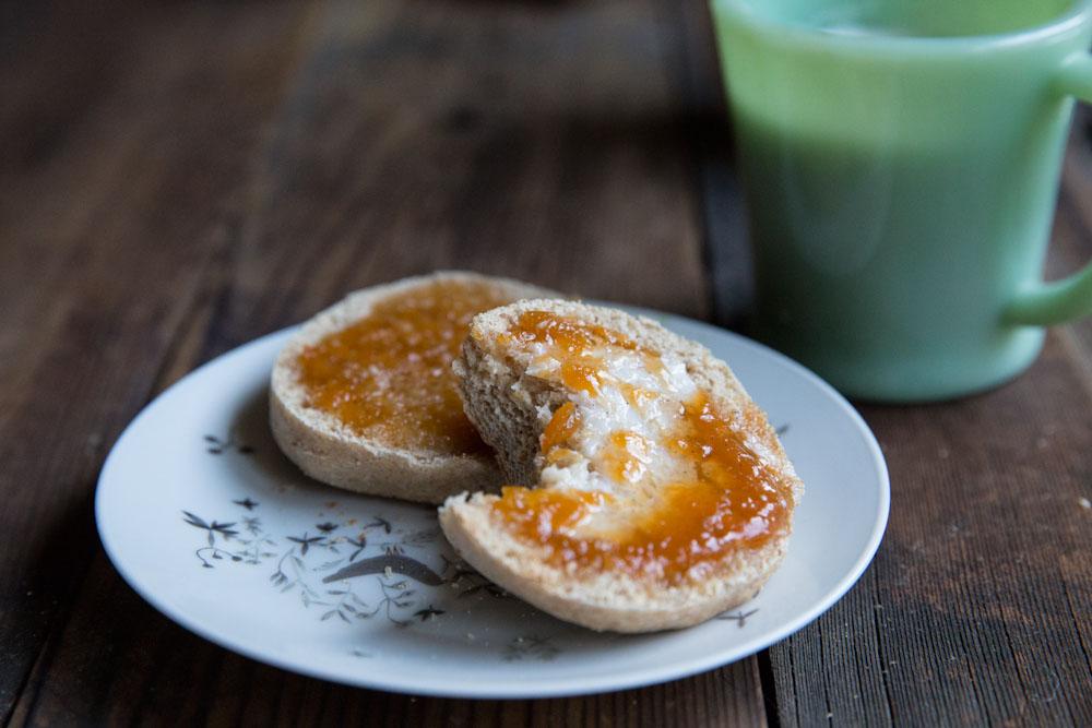 whole wheat english muffin recipe • theVintageMixer.com