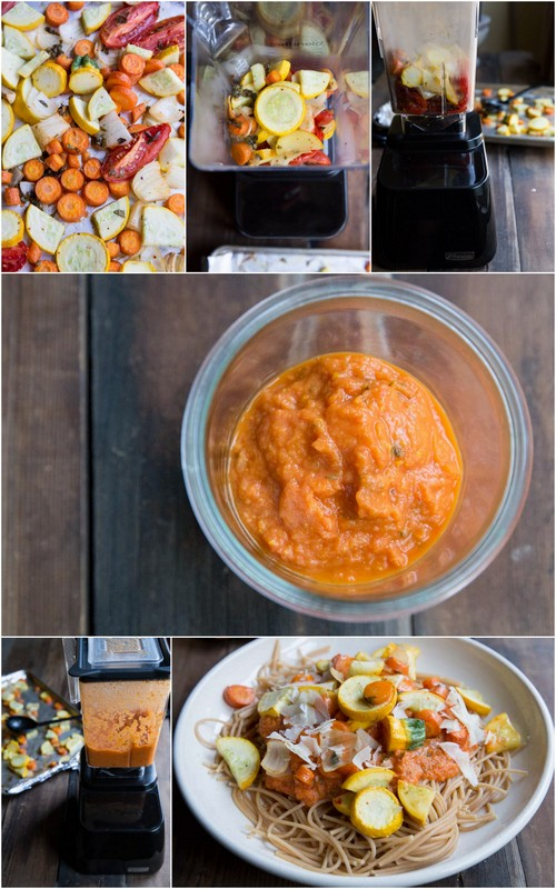 Blender Roasted Vegetable Marinara Sauce Recipe • theVintageMixer.com