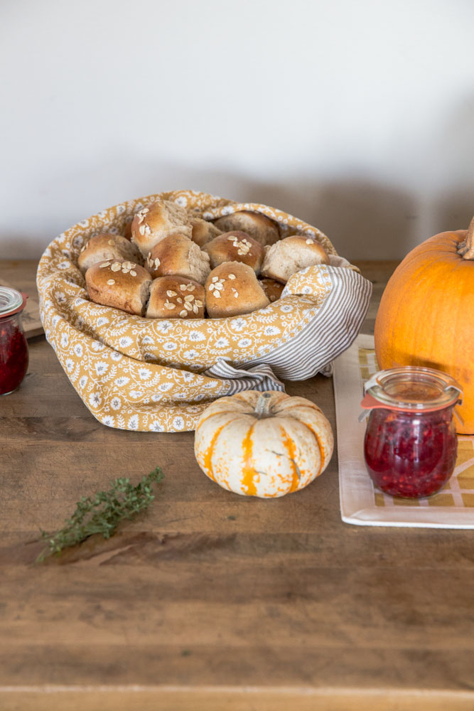 Honey Whole Grain Rolls • theVintageMixer.com #Thanksgiving