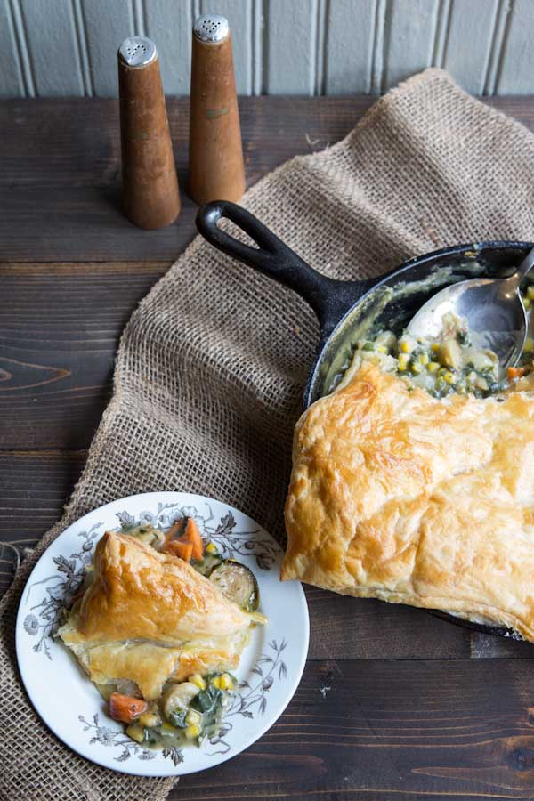 Chicken and Vegetable Pot Pie Recipe • theVintageMixer.com