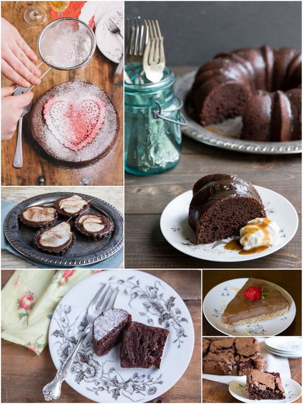 Chocolate Recipes for Valentines Day • theVintageMixer.com #chocolate #ValentinesDayRecipes