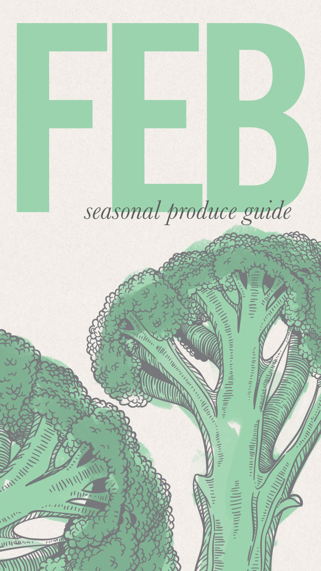 February Seasonal Produce Guide and iPhone Image • theVintageMixer.com #eatseasonal