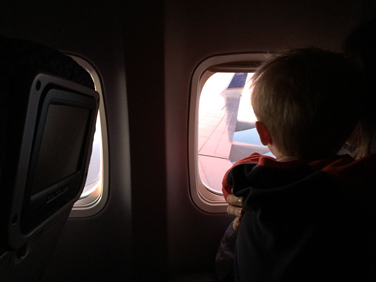Flying with a Toddler • theVintageMixer.com