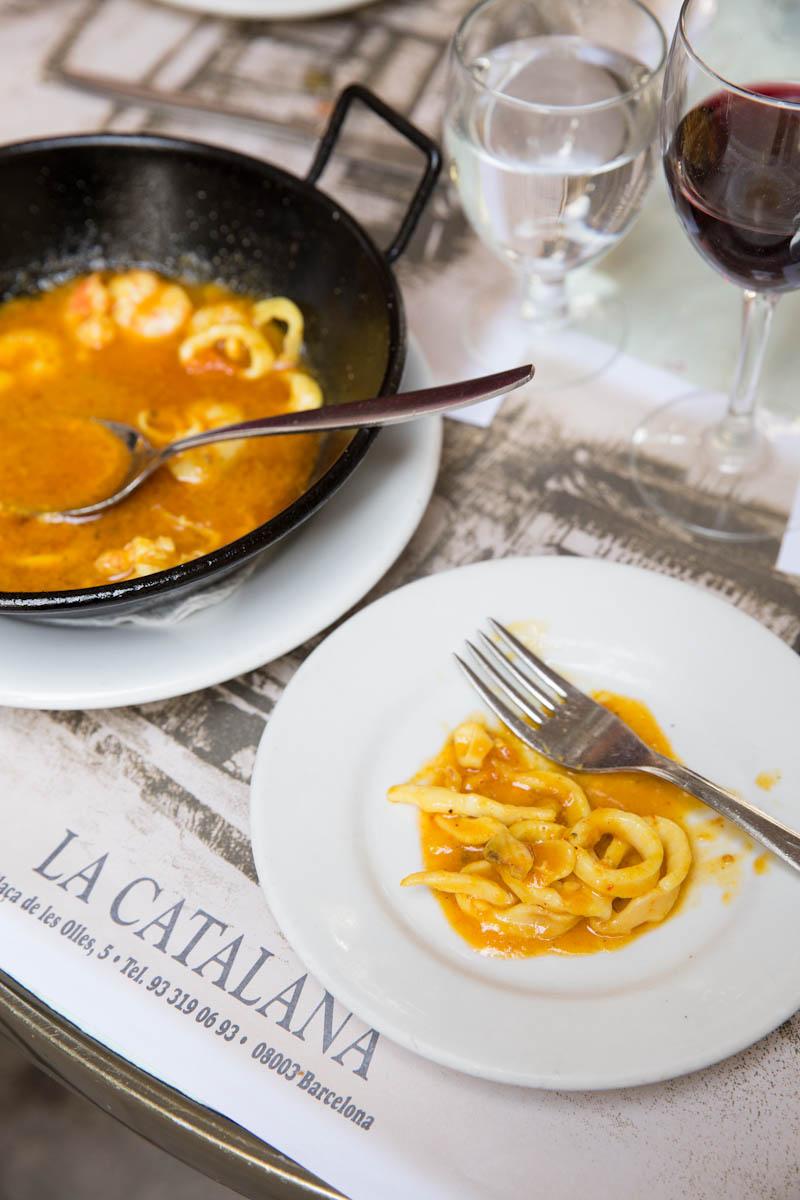 Spanish Romesco Sauce with Squid