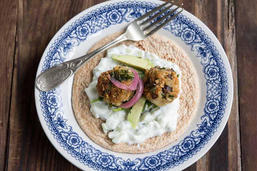 Kale and Black Bean Falafel Recipe