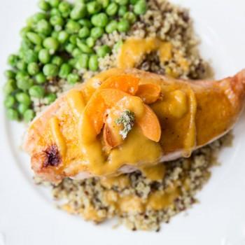 apricot chicken recipe •theVintageMixer.com #eatseasonal